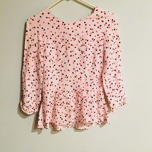 ✨5 for $25 Polka Dot Peplum Top By H&M